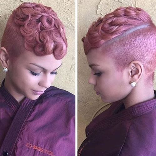 Fashion Pink Curly Pixie