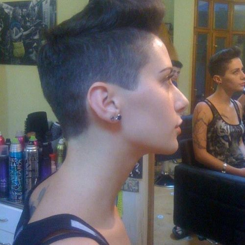 flat black short mohawk