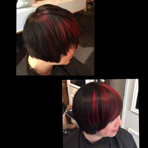 Classic Bob with Red Tips