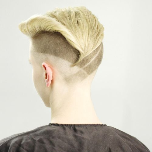 Short Blonde Undercut