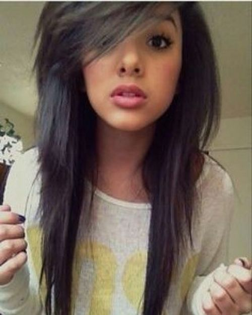 Black lush emo hairstyles for girls