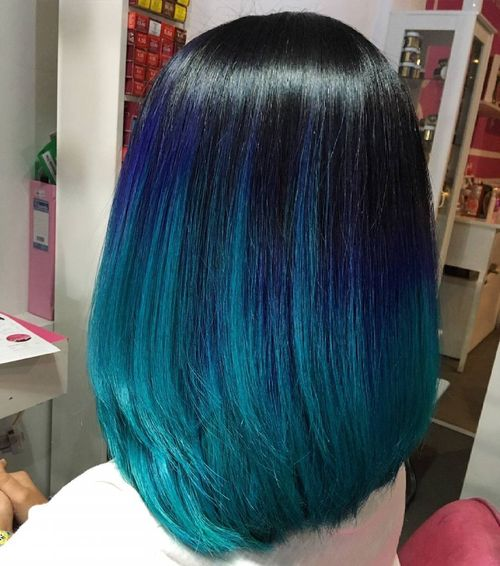 Nice light blue ombre