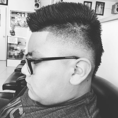Sharp and Fresh Faux Hawk