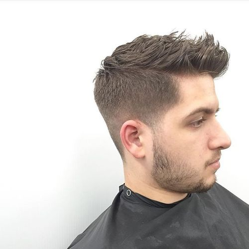 Textured Crew Cut with Fade