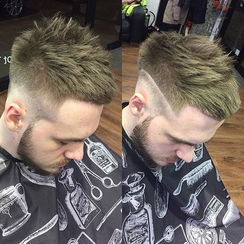 Low Fade with Interrupted Fringe