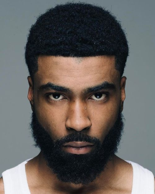 black men haircuts and beards
