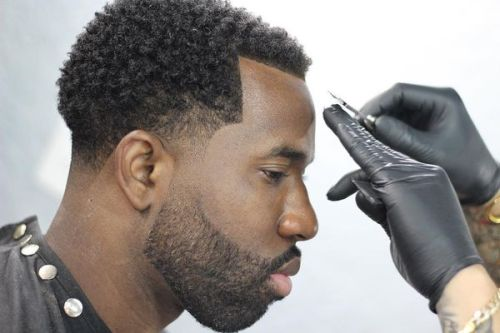 temple fade haircut black men