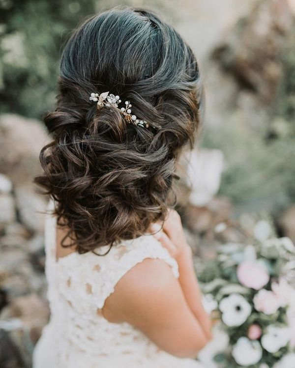 Layered Gathered Bridal Hair-Do