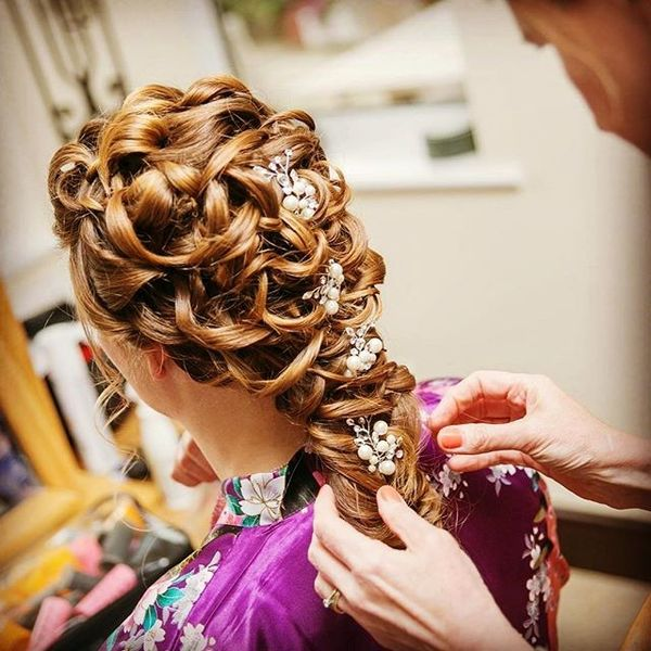 Curly Cascading Hairstyle