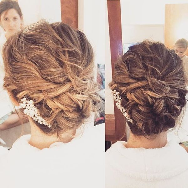Romantic Twisted Low-Do Hairstyle