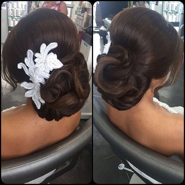 Vintage Chignon with Hair Detail