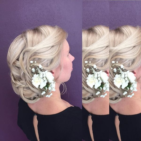 Side Textured Wedding Hairstyle