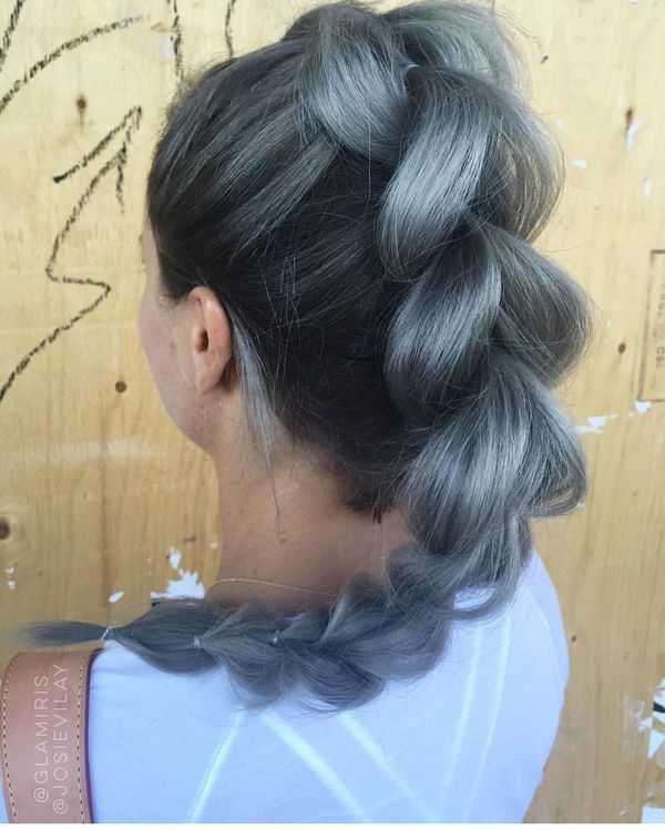 Everyday Braid Hairstyle with Elastics for Long Hair