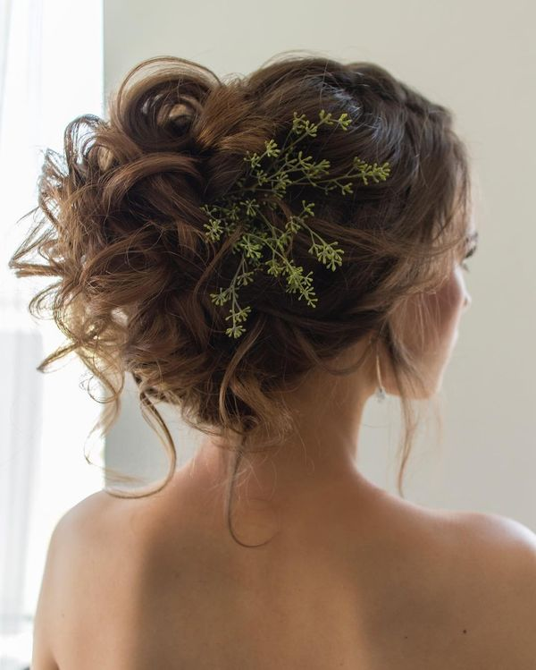 Curly Natural Updo