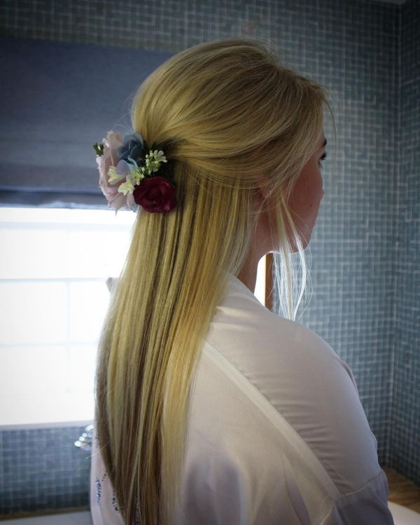 Floral Half-Up Hair-Do