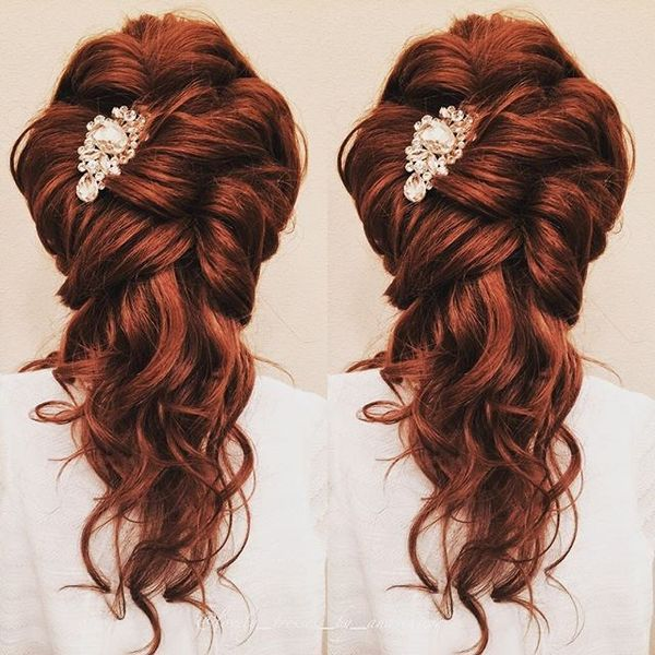 Romantic Fiery Half Up