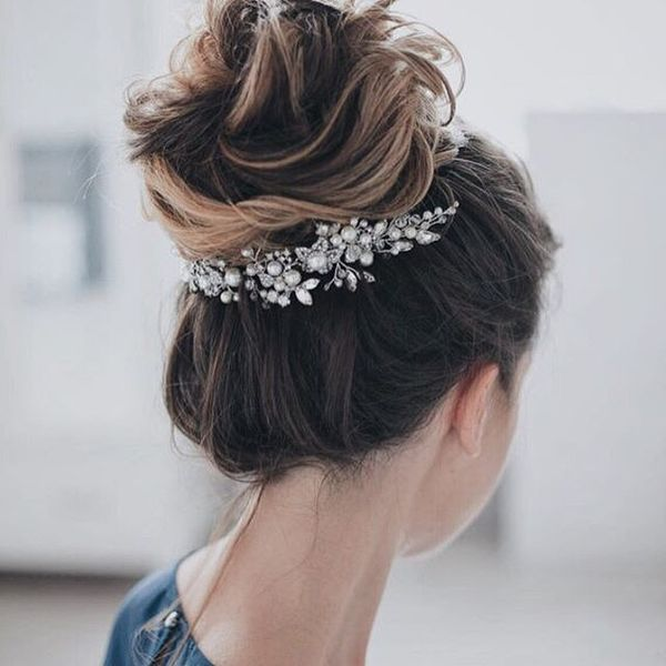 High Bun with an Elegant Touch