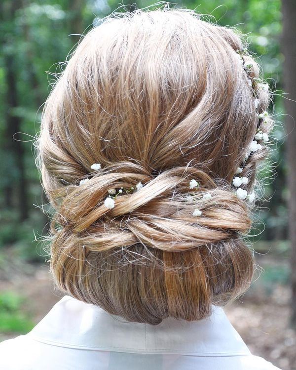 Conventional prom hairdo