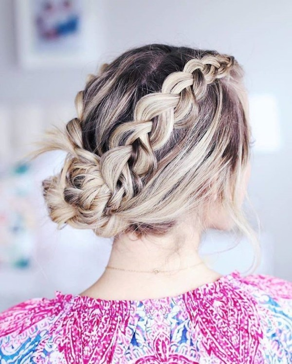 Greek braids updo