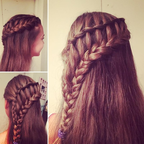 Ladder waterfall braids