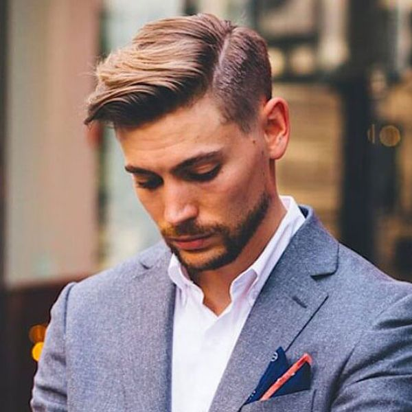 Mens Parted Hair Styles Custom Side Part Haircut  45 Men's Side Part Hairstyles