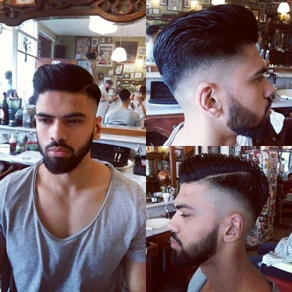 Thick Hair Pomp with Full Beard
