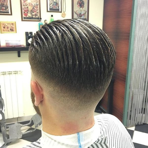 Sharp Fade Comb Over
