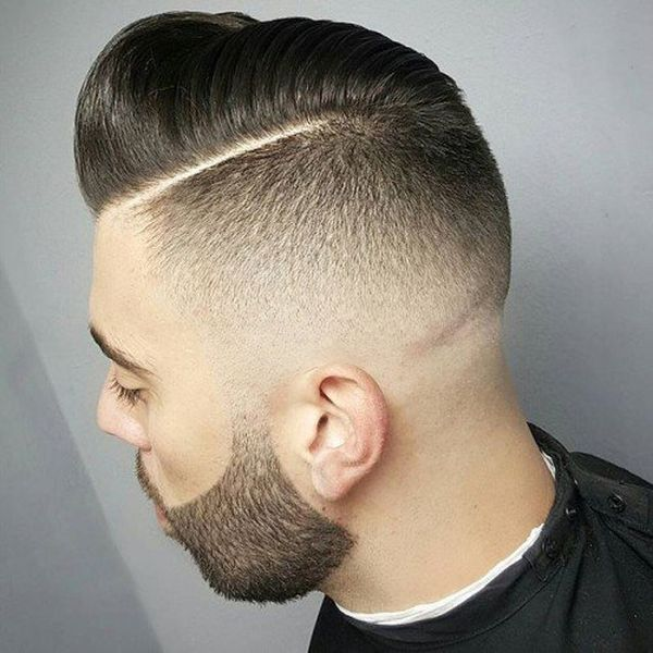 Shaved side with the comb over