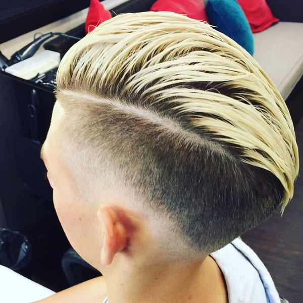 Blond Top Comb-Over