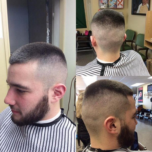 32 Classical high and tight with a beard