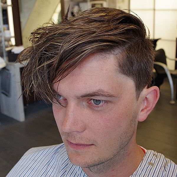 32 The Manly Hairstyle with the Unbelievable Long Bang