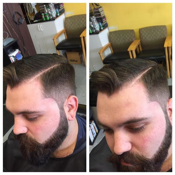 Vintage line up haircut