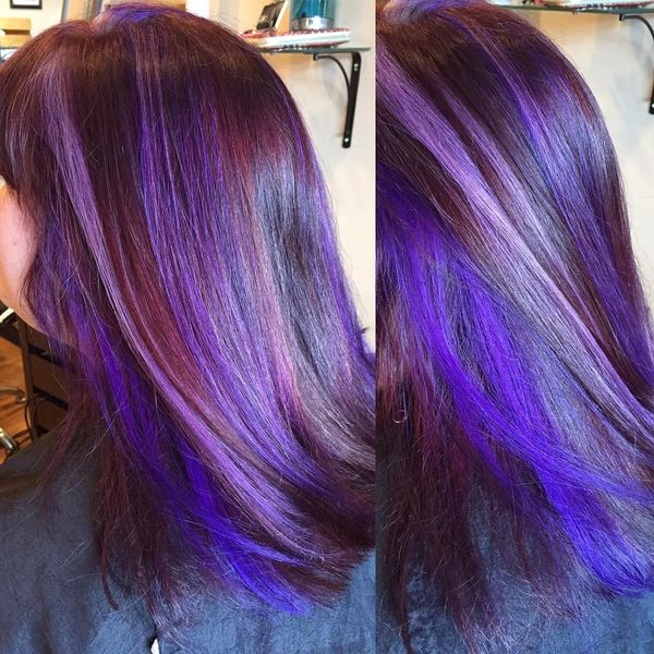 Lavender and purple highlights