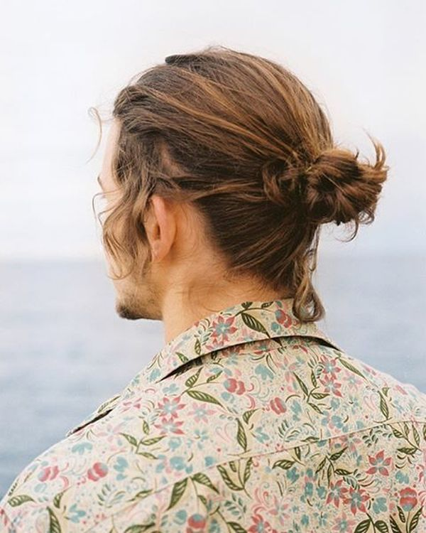 69 Nape Knot with Cute Curls