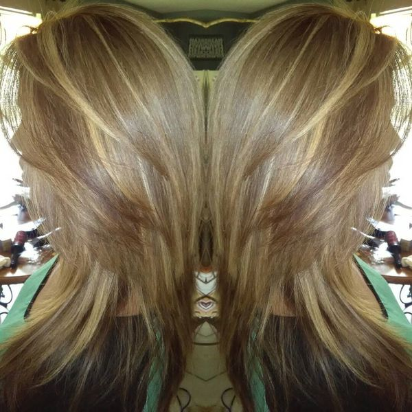 Amazing Dyed and Layered Cut