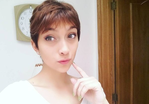 Bangs Creativity for a Layered Pixie0