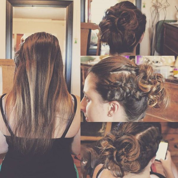 Beautiful Evening Braided Updo