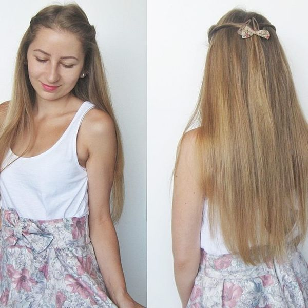 Cute Casual Style for Long Thin Hair