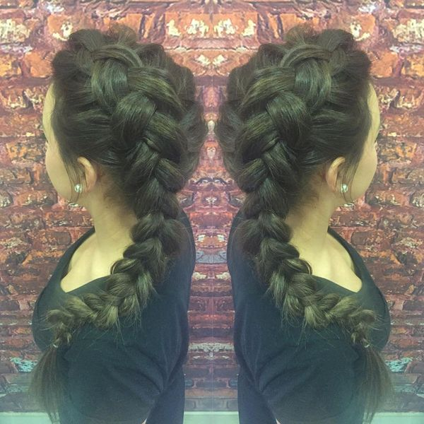 Cute Volume Dutch Braid for Thick Hair