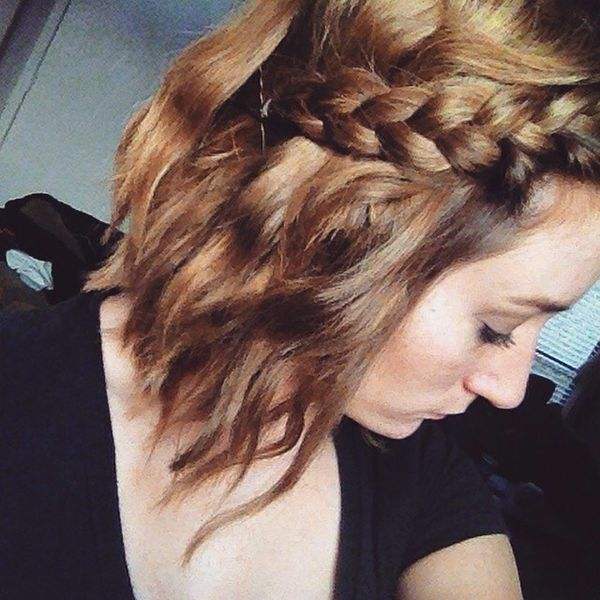 French Braid Twists to Update Your Wavy Hair2