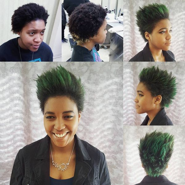 Green Spiky Hair0