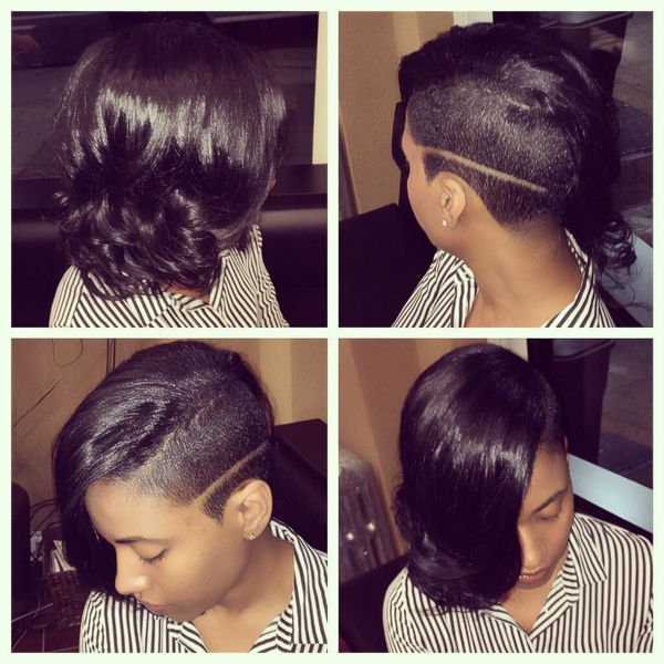 Shaved Sideline to Refresh a Short Afro Style2