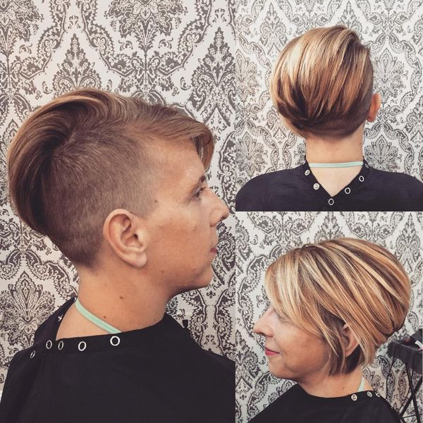 Super Cool Swept Back Undercut0