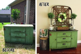 before-and-after-green-cabinet