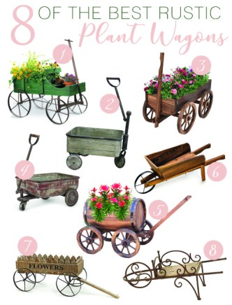 8 of the best rustic plant wagons
