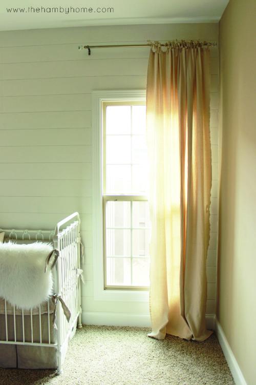 DIY Bow Tied Dropcloth Curtains4