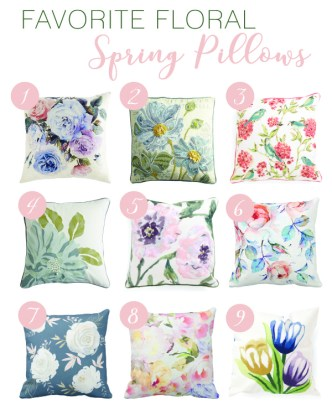 Favorite Floral Spring Pillows