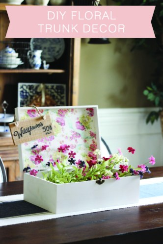 DIY Floral Trunk Decor