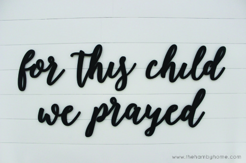 Nursery Wall Quote and Tips to Hang it-H