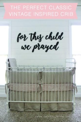Vintage Inpsired Crib